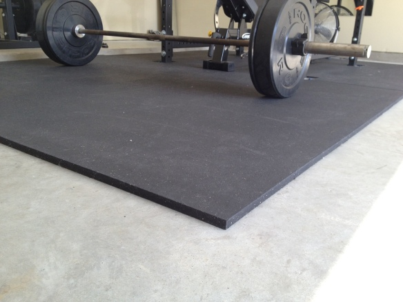 rubber mat garage gym flooring